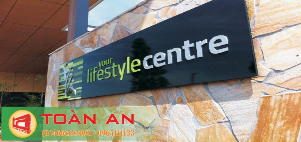 Mẫu biển quảng cáo chữ nổi Lifestyle centre