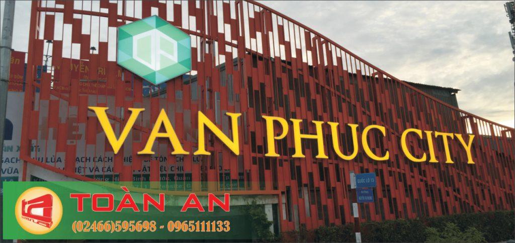 Mẫu biển quảng cáo chữ nổi Vạn Phúc City
