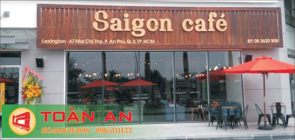 Mẫu biển quảng cáo chữ nổi Saigon Cafe