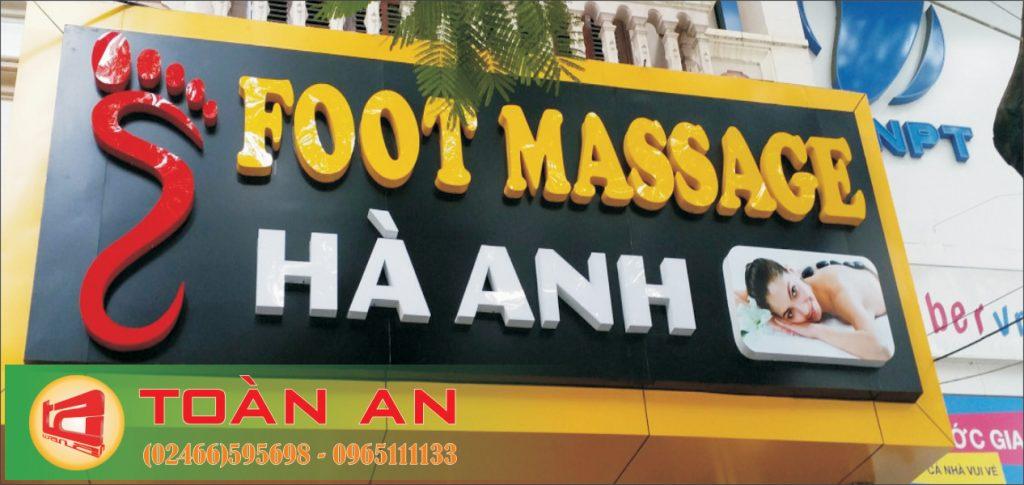 Mẫu biển quảng cáo chữ nổi Foot Massage