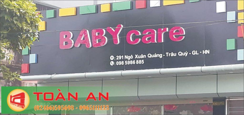 Mẫu biển quảng cáo chữ nổi Baby Care