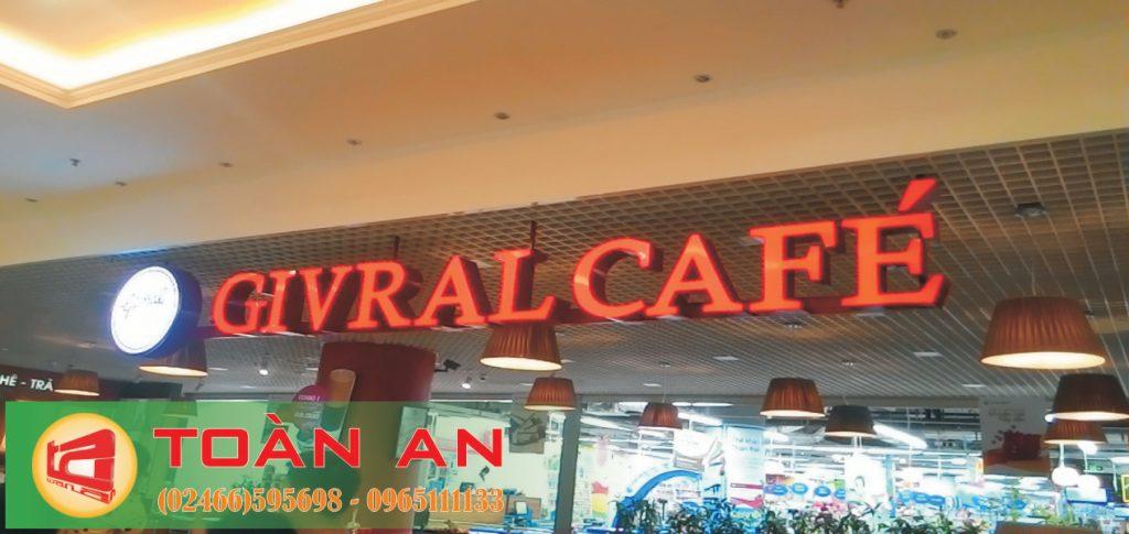 Mẫu biển quảng cáo chữ nổi Givral cafe