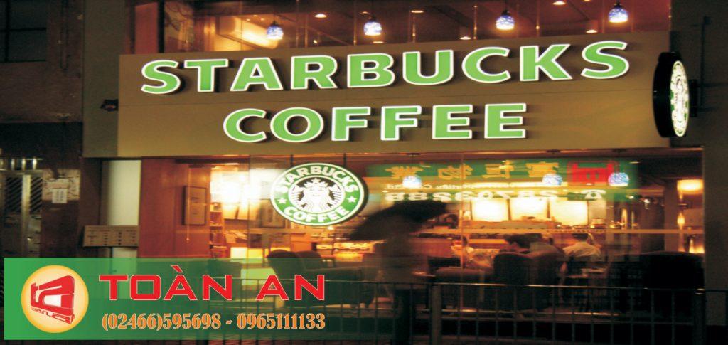 Mẫu biển quảng cáo chữ nổi Starbucks cafe