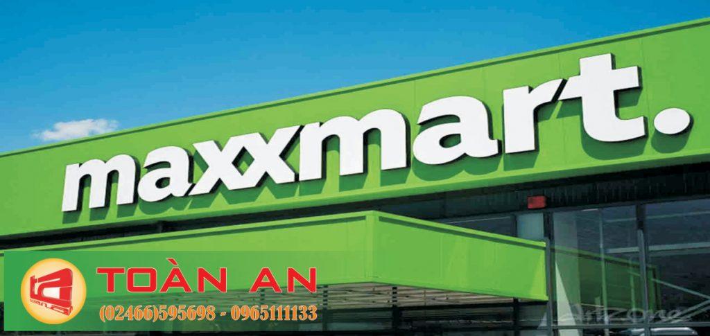 Mẫu biển quảng cáo chữ nổi Maxxmart