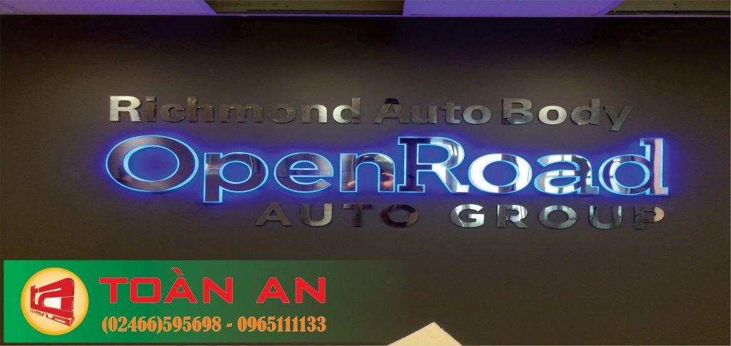 Mẫu biển quảng cáo chữ nổi OpenRoad