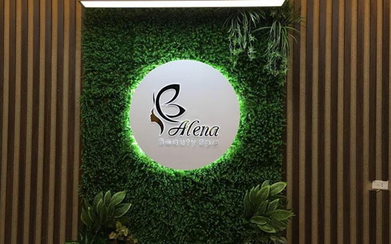 Mẫu biển quảng cáo chữ nổi nền cỏ