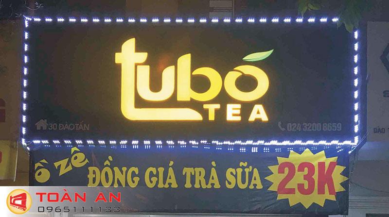 Mẫu biển quảng cáo trà sữa Tubo