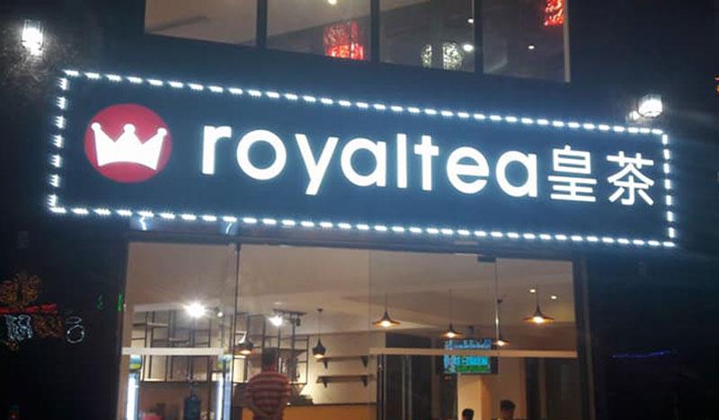 Biển quảng cáo chữ nổi quán trà sữa