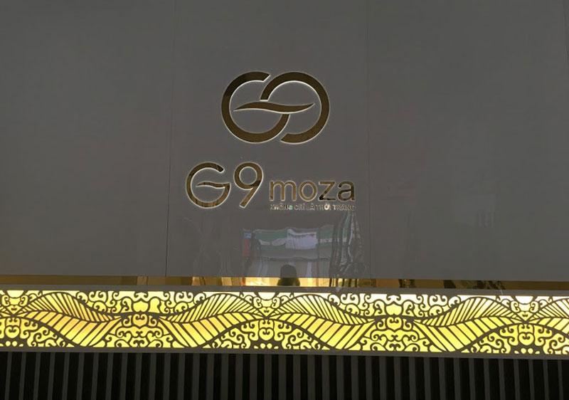 Biển logo hắt sáng đèn led