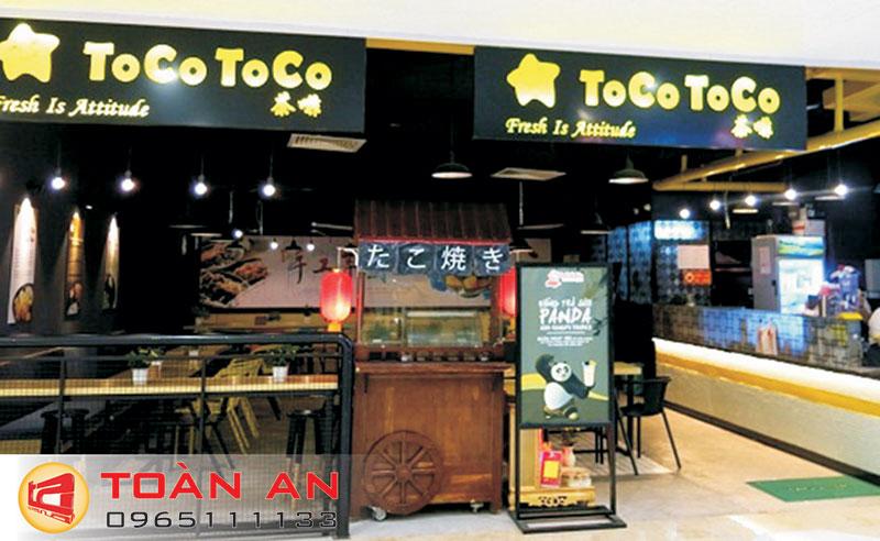 Mẫu biển quảng cáo trà sữa Tocotoco