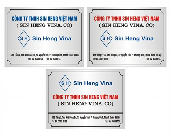 Mẫu biển hiệu công ty tại Hà Nội
