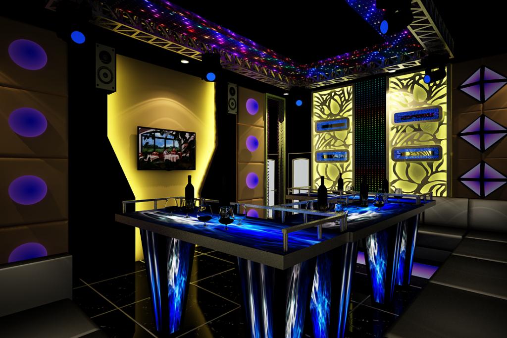 Mẫu thiết kế phòng karaoke minibar