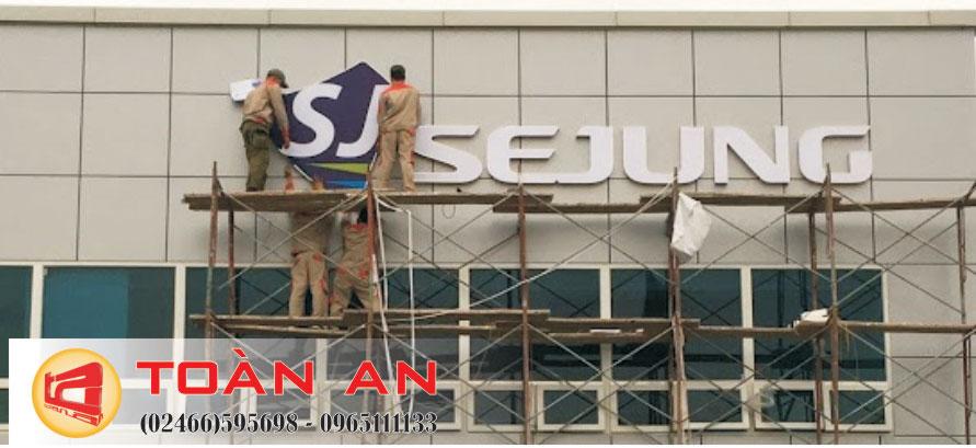 Thi công lắp đặt logo công ty tại Ninh Bình