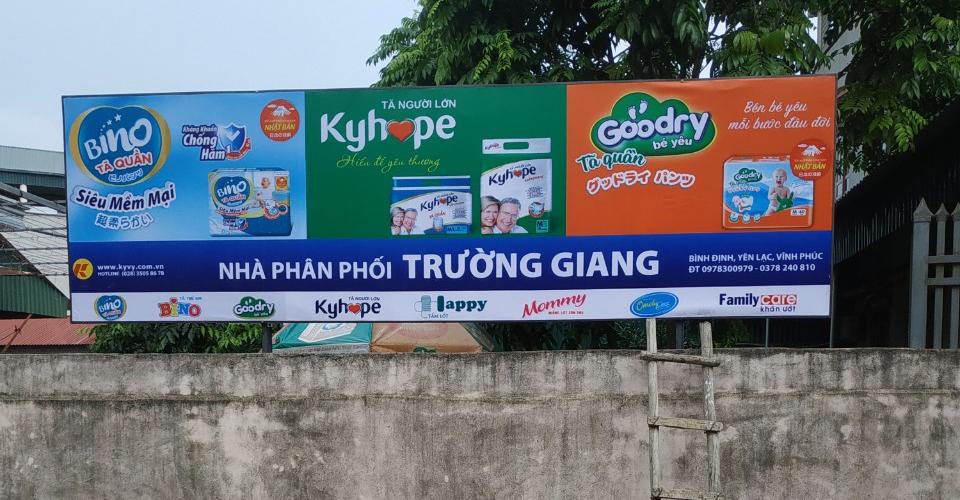 làm biển quảng cáo tại Yên Lạc, Vĩnh Phúc