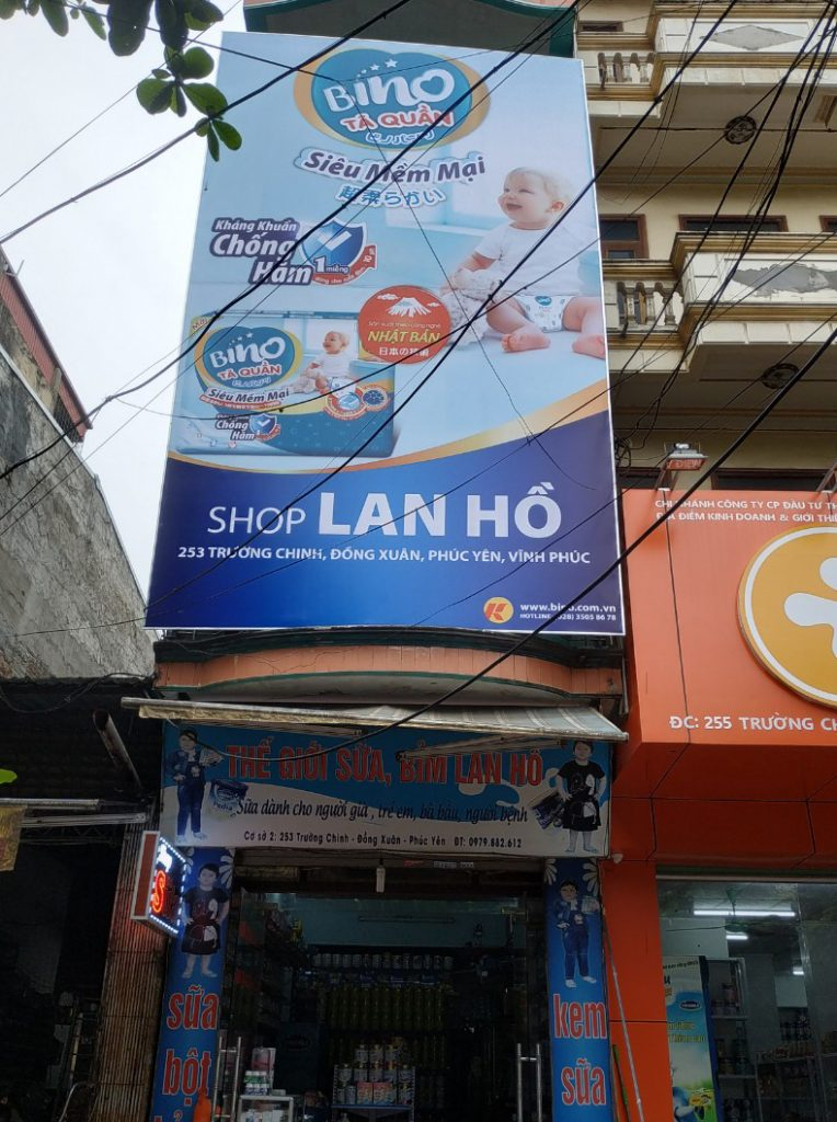 thi công biển hiệu quảng cáo hộp đèn tại vĩnh phúc