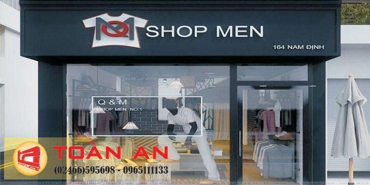 biển quảng cáo shop quần áo nam
