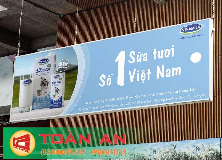 làm biển quảng cáo sữa