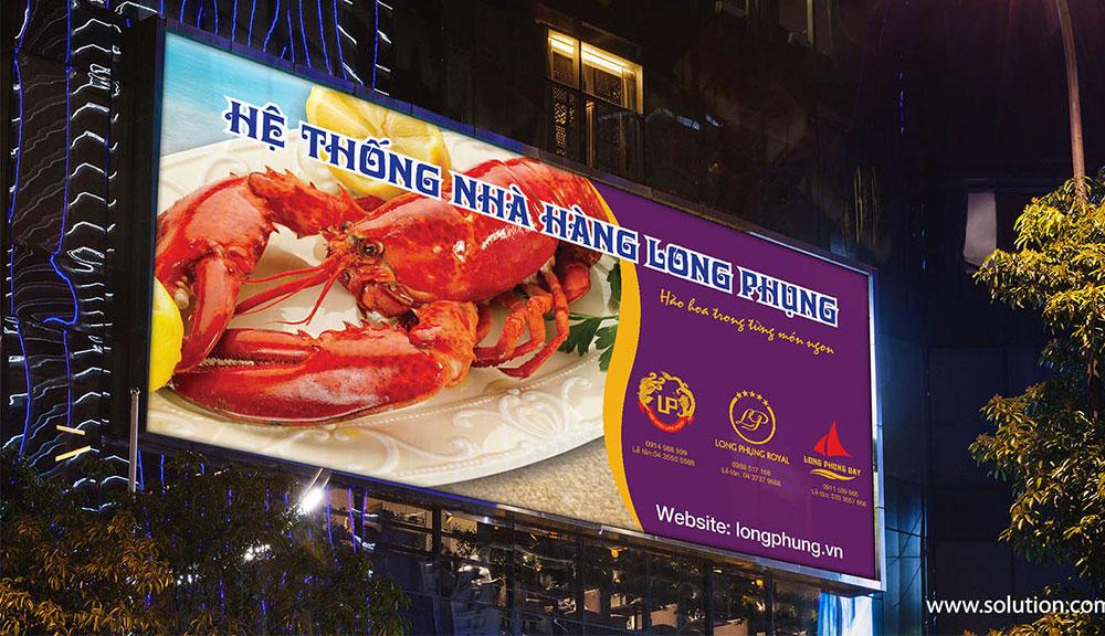 Biển quảng cáo nhà hàng hải sản đẹp