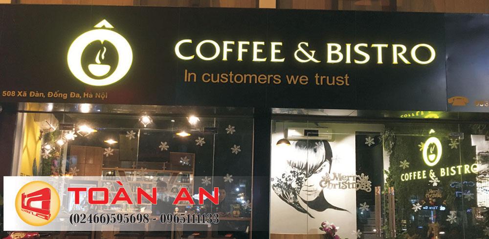 Biển quảng cáo quán cà phê Bistro