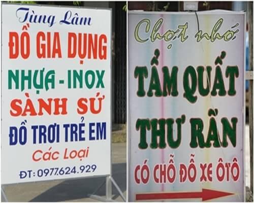 biển quảng cáo giá rẻ hà nội