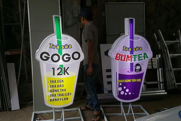 quảng cáo trà sữa